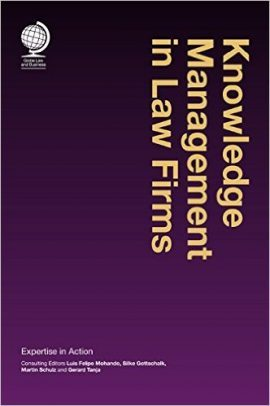 knowledge management in law firms book cover