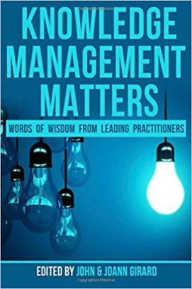 knowledge management matters book cover